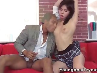Young anal tryouts is all about getting anal virgins